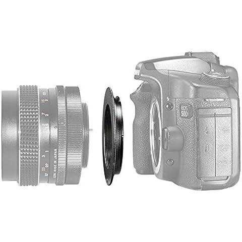 Neewer de Metal negro adaptador de montura de lente para M42 A Canon EOS Cámara/como Canon EOS 1d, 1ds, Mark II, III, IV, 5D, Mark II, 7D, 10D, 20D, 30D, 40D, 50D, 60D, EOS Digital Rebel xt, xti, xsi, t1i, t2i, xs, T3/300D, 350D, 400D, 450D, 500D, 550D, 1000D,