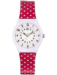 Lulu Castagnette - 38799 - Montre Fille - Quartz Analogique - Cadran Blanc - Bracelet Plastique Rouge