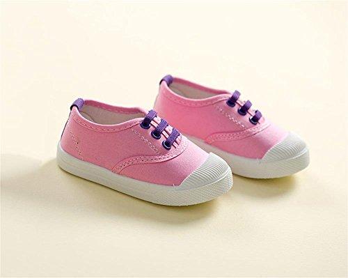 ALUK- Chaussures De Toile Pour Enfants Petits Chaussures Blanches Chaussures Bébé Étudiants Chaussures ( couleur : Rose , taille : 24 ) Rose