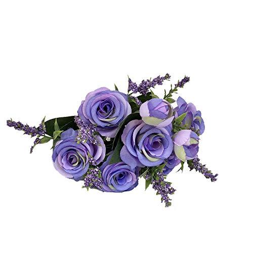 Sonnena Rose Blumen,Künstliche Deko Blumen Gefälschte Blumen Seidenrosen Plastik Braut Hochzeitsblumenstrauß für Haus Garten Party Blumenschmuck Bridal Bouquet Hochzeitsfest-Hauptdekor (Mittelstücke Partys Für Ideen)