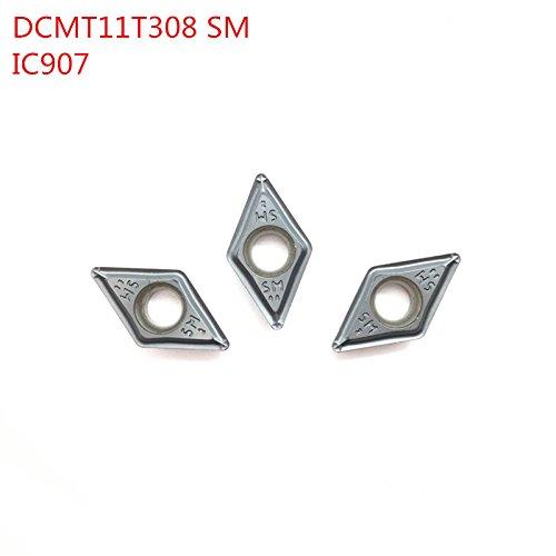 10pcs interne drehwerkzeuge dcmt3 1 dcmt11t308 sm ic907 carbide fügt die cutter einfädeln einfügen schneidwerkzeug cnc - tools tokarnyy verkauf verkäufer (Mini Drehbank-schneidwerkzeuge)