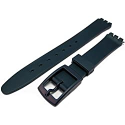 New DARK BLUE Generic 17mm Fitting (20mm) Sized Resin Strap Compatible for Swatch® Watch