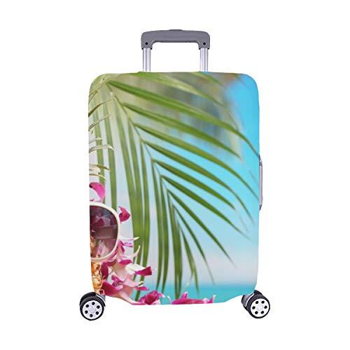 rau Ananas Auf Strandtisch Spandex Staubschutz Trolley Protector case Reisegepäck Beschützer Koffer Abdeckung 28,5 X 20,5 Zoll ()