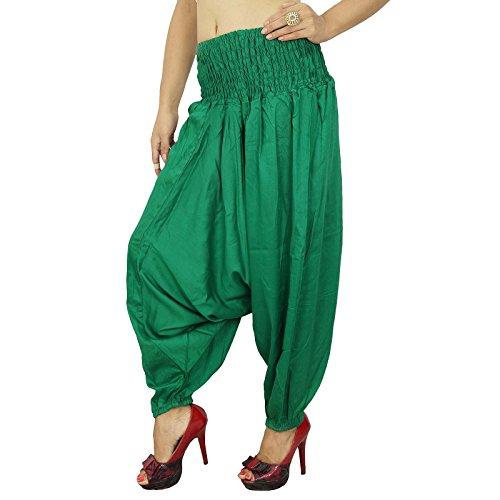 La Mode À Rayures Harem Des Pantalons Rayonne Réchauffez Pantalons Vert