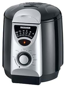 Severin - 2408 - Mini friteuse fondue - 840 W - 950 ml - 6 fourchettes à fondue - noir / argent