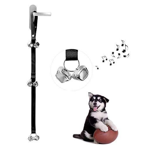 Ctbd Hund Türklingeln Ausbildung Töpfchen Glocken, Verstellbarer Länge Gürtel Dog Türklingel Fit für House Training (2 Glocken unten) (Dog House Training)