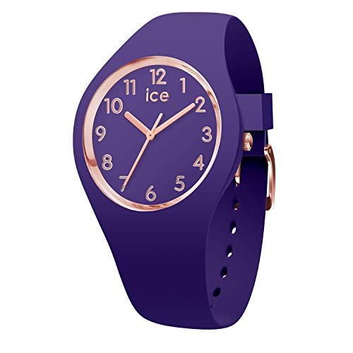 Ice-Watch - Ice Glam Colour Violet - Lila Damenuhr mit Silikonarmband - 015695 (Small)