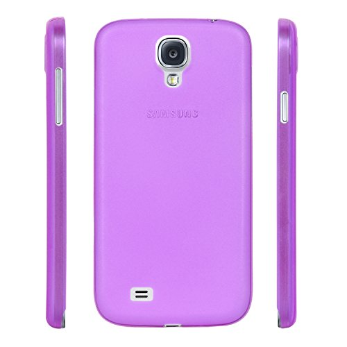 ZOUK Galaxy S4 i9500 Case, PP [0.35mm] Ultra-Thin / Slim [ Perfect Fit ] Thinnest Hard Protect Case Back Cover Bumper [ Semi-transparent ] Lightweight Back Cover for Samsung Galaxy S4 i9500 - Purple