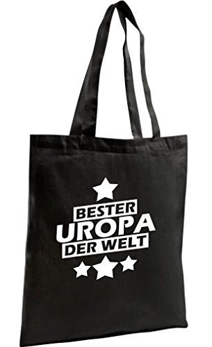 shirtstown Shopping-Bag organico Zen, SHOPPER MIGLIORI UROPA DEL MONDO Nero