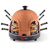 Trebs 99301 Pizzaofen mit Terrakottakuppel für 8 Personen, Pizzadom, 950 Watt, Zubereitung in nur 5 - 7 Minuten