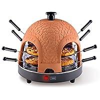 Trebs 99301 8pizza(s) 950W Negro, Naranja fabricante de pizza y hornos - Horno para pizzas (8 pizza(s), 5 min, Negro, Naranja, 950 W, 50 Hz, 400 mm)