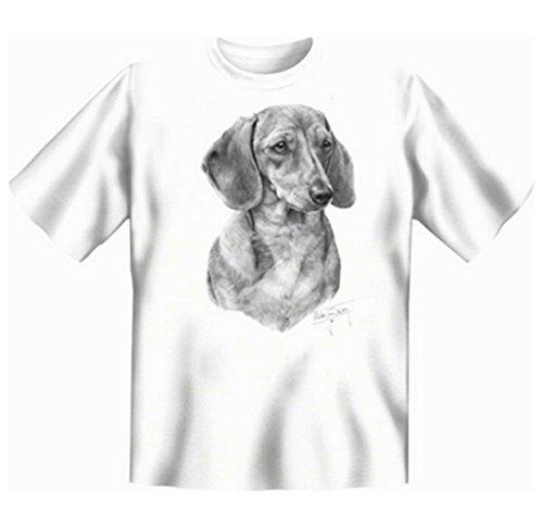 Für den Hundefreund und Tierliebhaber: Dachshund T-Shirt Farbe weiß Weiß