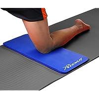"""Reehut Cojín de Yoga para Rodillas - Cojín Almohadilla para Codos - Grosor 15 mm (5/8"""") - Mini Colchoneta Que Complementa a tu Colchoneta Grande de Ejercicio con Correa(Azul)"""