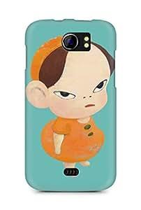 Amez designer printed 3d premium high quality back case cover for Micromax Canvas 2 A110 (Yoshitomo Nara)