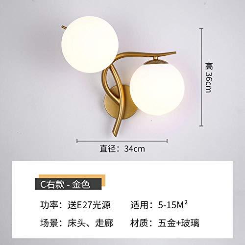 Industrie Wandleuchte Nachttischlampe Wandlampe Dekorative Lampe Tv Hintergrund Wandlampe @ C Abschnitt Rechts Gold - Rechts Abschnitt