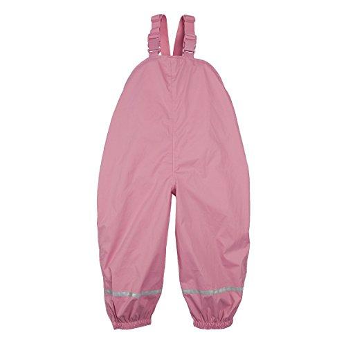Bornino Basics Regenhose leicht - Winddichte & Wasserabweisende Regenlatzhose für Babys & Kleinkinder - Reflektorstreifen & verstellbare Träger
