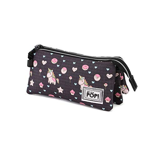 Oh My Pop! Popnicorn Estuches, 24 cm, Negro