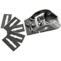S&R Taschenhobel/MADE in GERMANY / 85 mm mit 5 Ersatzklingen | Mini-Holzhobel | Handhobel | Schlichthobel | Einhandhobel Hobel Holz