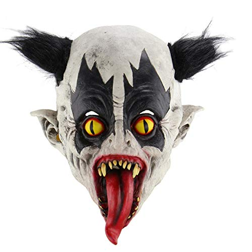 Maske Zombie Batman Kostüm - wnddm Halloween Latex Clown Maske Mit Haar Kostüm Party Requisiten Masken Batman Maske Horrific Demon Scary Devil Flame Zombie Bat Maske
