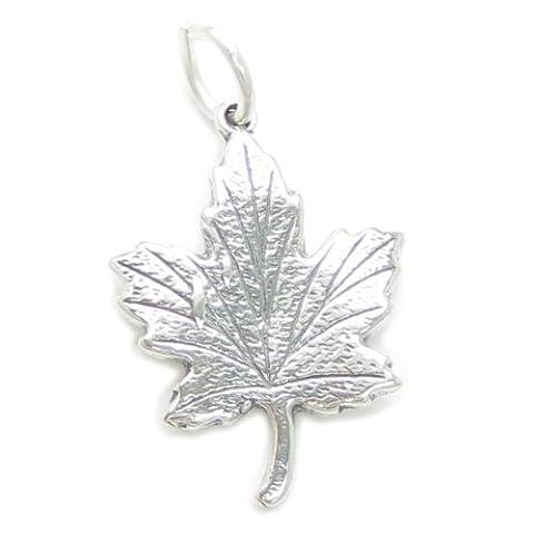Maple Leaf en Argent 925/1000–Maples CF177 Canada charms Feuilles