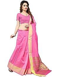 Women's Light Pink Colour Banarasi Silk Designer Weaving Saree By Brand Manvaa