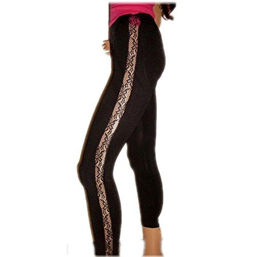 Avon Leggings Lace mit Stützfunktion und Spitzeneinsatz Damen schwarz L 42/44 (Damen-bekleidung Avon)