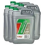 6x Trw Zentralhydrauliköl Hydraulic System Mineral Oil Lhm Plus (mineral) 5 L Pfm205 Grün