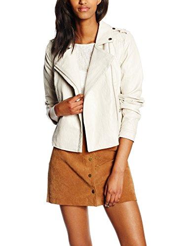 Vero Moda Vmclair Short PU Jacket WP4, Blouson Femme Ivoire (Moonbeam)