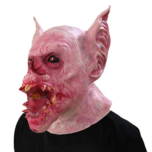 Zombie Maske Batman Kostüm - GXDHOME Halloween Latex Kopf Masken, Vampir Batman Monste Grimasse Spukhaus Kostüm Horror Zombie Lustige Scary Creepy Ghost Fancy Dress