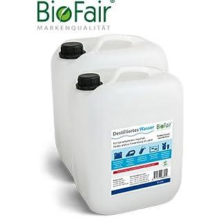 BioFair Demineralisiertes Wasser (20l) nach VDE 0510-2 x 10 Liter (destilliertes Wasser)