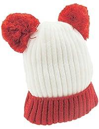 Bonnet en tricot côtelé super doux pour bébé fille garçon chaud ... 521864b3df8