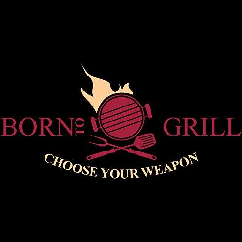 Born To Grill - Choose Your Weapon - Herren T-Shirt von Fashionalarm | Fun Shirt Spruch Spaß Grillen Grillmeister Sommer Party Fleisch Steak lustig Schwarz