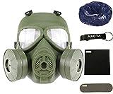 HaoYK, maschera M04, anti appannamento, antigas, con doppia ventola. Attrezzatura protettiva per softair e paintball, OD Green