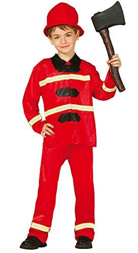 Feuerwehrmann - Kostüm für Kinder Gr. 98 - 146, Größe:110/116