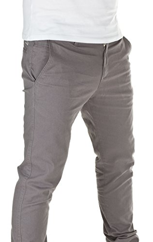 WOTEGA Herren Chinohose 141 Chino slim fit Grau (Grey 42361)