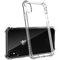 iPhone caso, iPhone 10x–myape–iPhone X Case Cover con Clear Panel posterior y esquinas reforzadas de TPU Bumper para iPhone 10(2017)–transparente–protección contra caídas