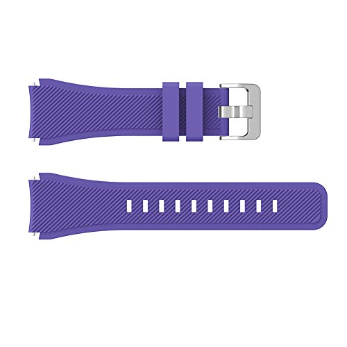 nieliangw0q Watch Strap,22mm Soft Silicone Wrist Strap Band Replacement for Huawei GT 46mm Dial Watch Purple