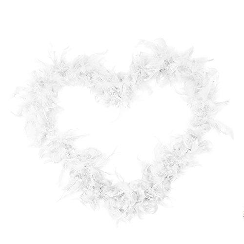 Feather Kostüm Boas - Feder Feather Boa Fluffy Craft Kostüm Dressup Hochzeitsdeko Partydeko Startseite Blumendekor Geschenk (Weiß)