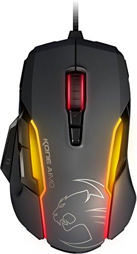 Roccat Kone AIMO Gaming Maus (hohe Präzision, optischer Owl-Eye Sensor (100 bis 12.000 DPI), RGB AIMO LED Beleuchtung, 23 programmierbare Tasten, designt in Deutschland, USB) grau (Mäusen Männer Von)