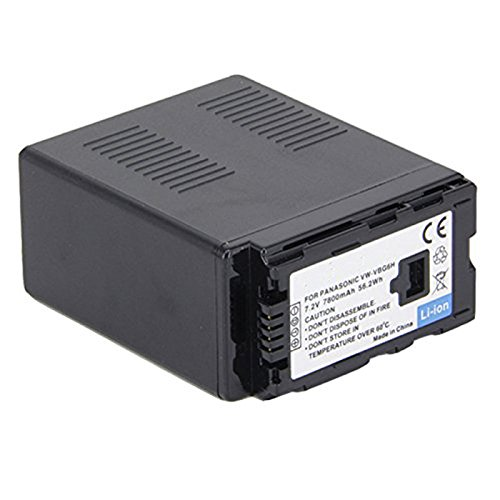 Amsahr Digital Replacement Camera and Camcorder Battery for Panasonic VW-VBG6-K, VW-VBG6H