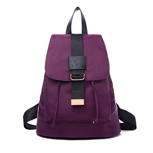 LINGE-Zaino donna Oxford panno borsa zaino sport , violet Violet