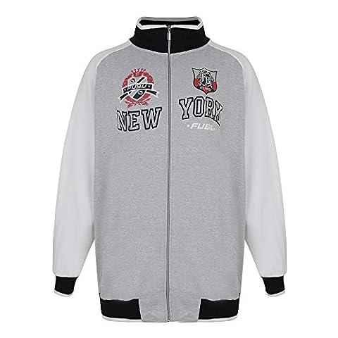 Fubu Men's King New York Veste sweat-shirt gris, Grey, XXXX-Large