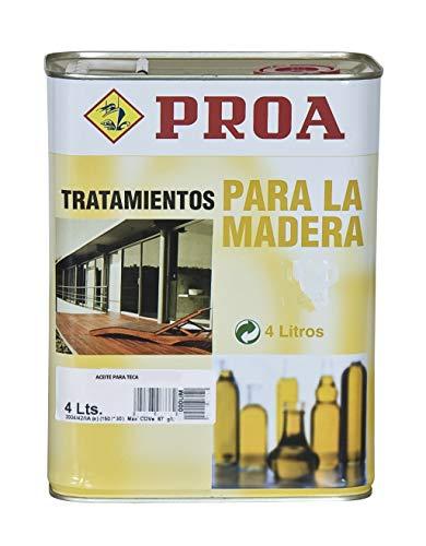 Proa. Aceite para Teca, Transparente. 4 L