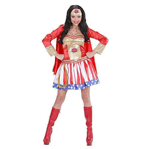 Widmann - super hero girl costume da eroina, in taglia l