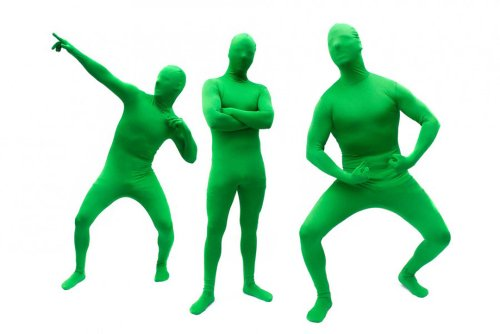 Hautenger Ganzkörper Body Suit Green Man Anzug Kostüm aus Spandex-Lycra (Anzüge Morph Grüne)