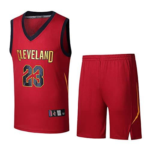 Basport NBA Cavaliers Maglia n ° 23 James Basket Maschile Abbigliamento  T-Shirt Suit fd30ee3be5a1