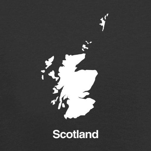 Scotland / Schottland Silhouette - Herren T-Shirt - 13 Farben Schwarz