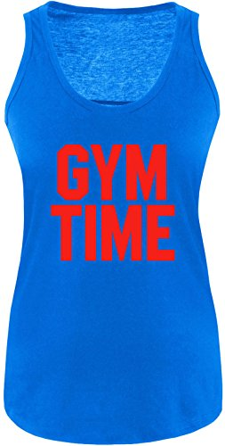 EZYshirt® Gym Time Damen Tanktop Royal/Rot