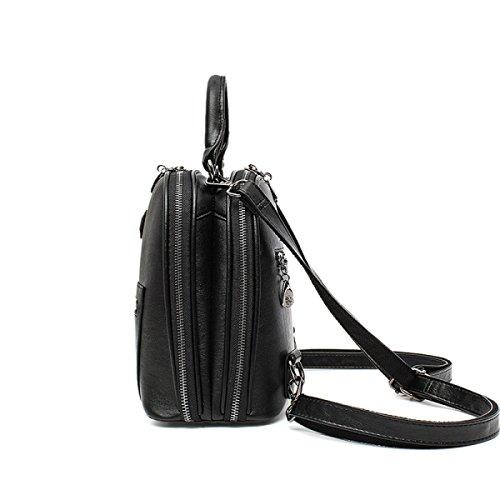 Rucksack Frauen Drei-Nutzen Mode Student Tasche Bronze