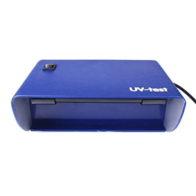UV Lampe Standgerät 1 Schwarzlicht Röhre 365nm (220V) - für UV Stempelfarbe, UV Leuchtfarbe, Schwarzlichtfarbe, Geldprüfgerät, Banknoten, Briefmarken, Fluoreszenz (langwellig) bei Mineralien und Fossilien, Ausweise, Führerscheine, Passkontrolle, Dok